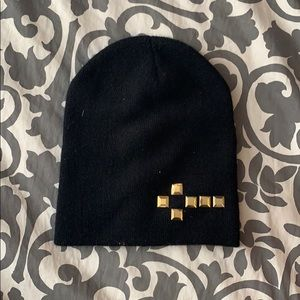 Accessories - Black w/ gold studs beanie